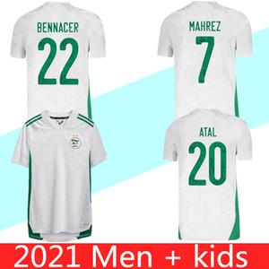 2020 2021 Cezayir Mahrez Ev Futbol Formaları 20 21 Cezayir İki Yıldız Feghouli Bennacer Futbol Gömlek Maillot De Ayak Üniformaları
