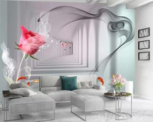 3d Wallpaper Custom Photo Mural Beautiful Extended Space Rose Living Room Bedroom Wallcovering HD Wallpaper