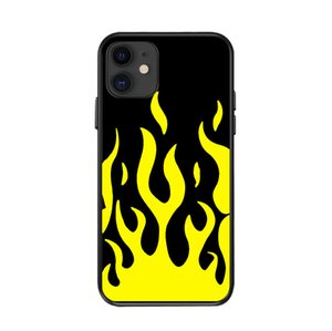 Shock-proof Green Flames I-phone 12 Case For Iphone 12 11 Mini Pro Max Green Flames Cover Shell Cell 11 Moblie Phone Cases