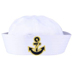 1 Pc Sailor Costume Accessories White Sailor Hats For Costume Adult Party Cosplay 1 Pc sqcIaX sports2010