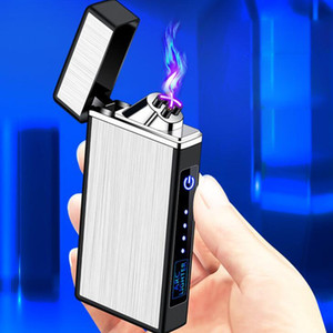 Windproof Colorful USB Cyclic Charging ARC Lighter Portable Innovative Design Touch Sensing For Herb Cigarette Cigar Tobacco Smoking DHL