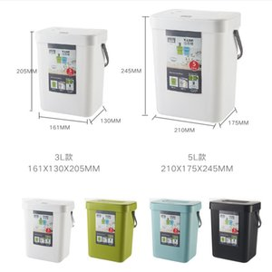 Kitchen hanging open cover kitchen waste bucket household living room bedroom wall hanging portable rectangular trash can C0930