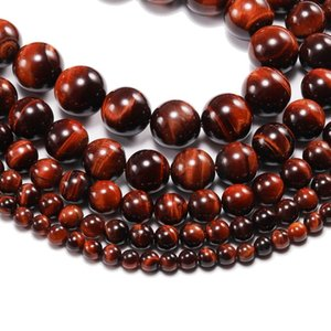 1strand Lot 4 6 8 10 12 Mm Aaaaa Natural Stone Red Tiger Eye Agat Round Beads Loose Spacer Bead For Jewelry H bbyeSE