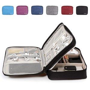 Кабельный Организатор Путешествия Электронные аксессуары Перевозят чехол для цифровой камеры, USB, зарядное устройство, Bow Power Bank Storage Box Q1230