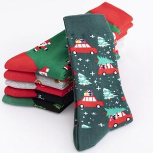 2020 Personality Cartoon Männer Lange Socken Cotton Männer Schlauch-Socken Weihnachten Serie Cotton Men Graphic Combed
