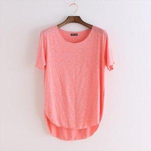 100% t camisa suelta New Casual Casual Casual Fitness Harajuku Slim Model Women T Shirt Sleeve O Neck Verano Mujer Moda Ropa Gvolf