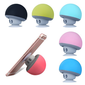 Portable Mushroom Sucker Bluetooth Speaker with Microphone Built-in 10m BT Waterproof HIFI Stereo Mini Wireless Speaker for Computer Phones