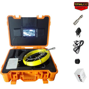 7'' LCD Display 20M Industrial Pipe Inspection Camera 23MM Lens HD Drain Sewer Endoscope Cleaner Plumbing Equipment