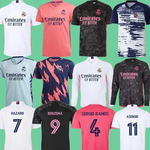 REAL MADRID 2020 2021 전 경기 교육 정장 축구 유니폼 (20) (21) 위험 11 아센시 # 20 비니 camiseta 축구 셔츠 긴 키트 아이 세트