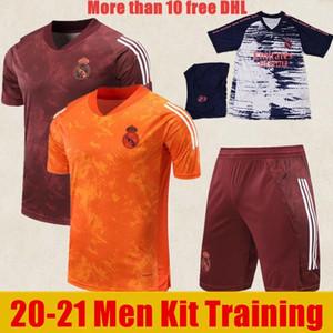 NCAA الجودة التايلاندية 20 21 ريال مدريد ما قبل مباراة تدريب Soccer Jersey 2020 Hazard Sergio Ramos Benzema Vinicius Camiseta Football Men Kits