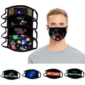 Среди нас игра маска для игры дизайнерские фиксированные игры для взрослых детские игры печатные маски многоразовые моющиеся моющейся пыли защита унисекс хлопка маска