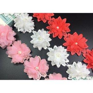 15 cortile rosa perla fiore chiffon tessuto di pizzo nastro nastro per abbigliamento cucito fai da te nozze nuziale da sposa da qylftd bdetoys