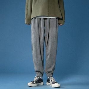 Мужской 2021 Новые бриджи пада Тонкая пара Галон Леггинсы Длинные брюки Индивидуальность Молодая мужская одежда ELDQ