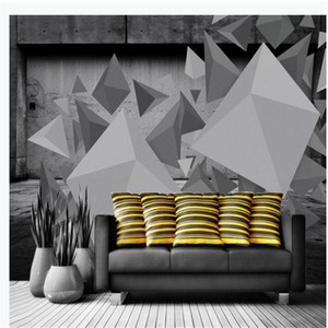 Custom 3d wallpapers window mural wallpaper Three-dimensional personality geometric wallpapers decorative painting background wall