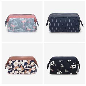 2020 Large Capacity Makeup Bags Toiletry Bag Women Leaf Flamingo Travel Cosmetic Bag Wash Organizer Bath Pouch Storage Case