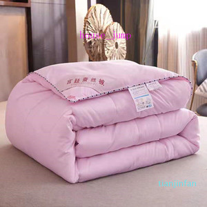Soft Bedding Cover Satin Silk Queen King Size Bed Comforter Quilt Duvet 5 Color Optional Fashion Comforter For Home