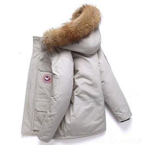 nYJA moda rombo invierno GeesejacketsMen O Hombre cremallera cuello de moda calientes capa ocasional de los hombres sólidos Parka Ropa Hombre Invierno SH19