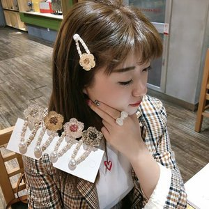 Fashion Korean Style Pearls Hair Clips Barrettes Sweet Flower Shape Resin Hairpins for Girls Headwear Styling Hair Accessories Kimter-C445FZ