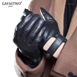 Five Fingers Gloves Spring And Summer Mens Imported Sheepskin Leather Touch Screen Fashion Outdoor Sports Driving Anti-Skid Cycling Gloves1