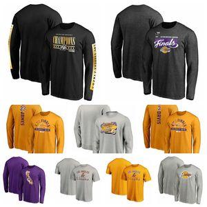 Los AngelesLakersMänner Frauen Jugendliche Fanatics Branded 2020 Western Conference Champion Spiel Blei Langarm-Basketball-T-Shirt