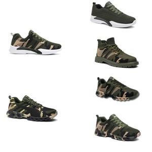 2020 Без бренда Hotsale Дизайнерские Обувь Мужчины Женщины Беговые Обувь Камуфляжная Армия Зеленый Открытый Тренер Siez 36-44 Стиль 28