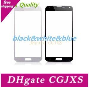 لسامسونج غالاكسي s5 شاشة تعمل باللمس عدسة زجاج أسود أبيض أزرق أسود أمامي غطاء زجاجي لسامسونج غالاكسي s5 i9600 حرية الملاحة