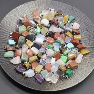 Нерегулярное ожерелье Природные кристаллы Исцеление камень Агатовые Малые аксессуары женские мужские Подвески чувствительное высокое качество 0 7ks M2