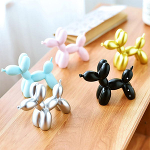 Cute Small Balloon Dog Baking Cake Decoration Childhood Party Dessert Desktop Decor Sculpture Gifts Resin Crafts 5 Colors