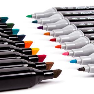 Touchcool 262 لون الكحول القائم على لوحة مائية رسم مملور مظلمة تلميح رسم الفن فرشاة القلم Y200709