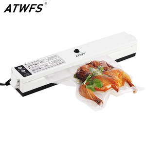 ATWFS Вакуумный уплотнитель для хранения Уплотнительная упаковка Уплотнительная машина Кухня Вакуумная контейнер Пакера Складки с 15шт вакуумной сумкой