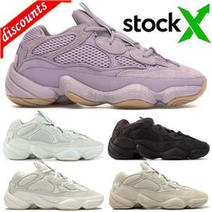 Top Kanye 500 soft vision Men Women Running Shoes bone white stone Sneakers blush salt DESERT RAT super moon yellow utility black