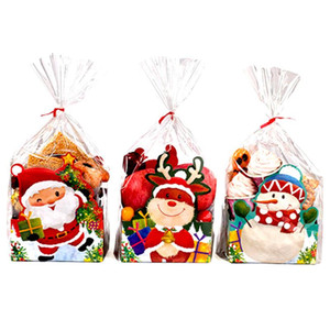 Christmas Eve Portable Box Cookies Bags Candy Biscuit Packaging Paper Bag Birthday Wedding Gift Wrap Party Decoration Supplies