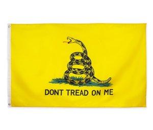 Çay Partisi Çıngırak Yılan bayrağı OWF2971 GADSDEN üzerimde DHL Americal bayrakları Amerika Yıldızlar ve Çizgiler Bayraklar ABD Başkanlık 90x150cm do not taban