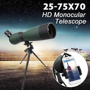 25 -75x70 Hd Lens Monoküler Teleskop Tripod Cep telefonu Klip Gece Görüş Açık Suya Teleskoplar T191022