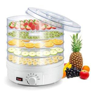 Transparente Dried Fruit Machine Desidratação Secador 5 camadas Snack Máquina Household Secador de 220V Pet