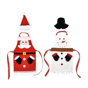 Cartoon Figurine Wine Bottle Set Cloth Apron With Cap Wine Bottle Cover Christmas Home Decorations Christmas Set