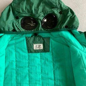 Mens abajo de la chaqueta de la empresa Shell cazadora CP de extracción sobre forro de algodón abajo chaqueta con capucha para hombre de las gafas al aire libre parkas de invierno outerwea