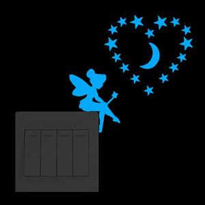 Световая Diy для малышей Комнаты Cat Fairy Stars стикер Switch Glow в 6umm Dark стикеров стены Home Decor Гостиная