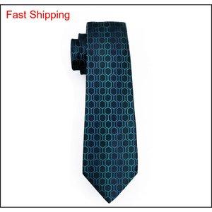 Grüne Krawatte Set für Männer Seide HankerCHief Manschettenknöpfe Mens Jacquard gewebt Classic Business Work Freizeit QYLYVU HOMES2007