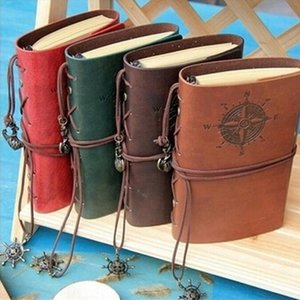 "Brand new and high quality ""Traveler's Handbook"" Faux Leather Cover Bound Diary Planner Journal Travel School Notebook"