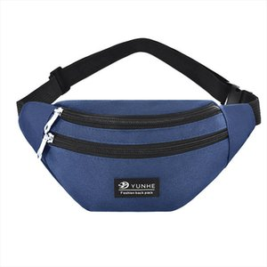 Men Women Waist Bag Fanny Pack Phone Key Cards Belt Clutch Purse Wallet Casual Bag Gray Blue Black Pink
