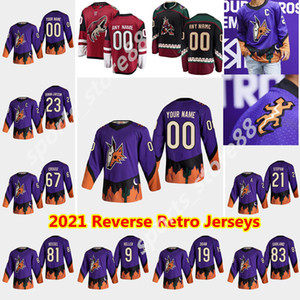 Arizona Coyotes 2021 Reverse Retro Hóquei Jersey Oliver Ekman-Larsson Jersey Conor Garland Jakob Chychrun Max Domi Oester Costume Costume