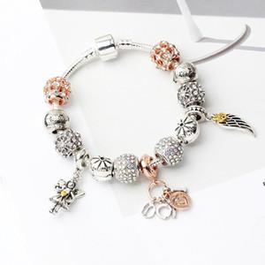 Bracciali di fascino di vetro di Murano perline di Natale perline con diamanti charms cristallo ciondolo per le donne originale fai da te gioielli stile fit pandora