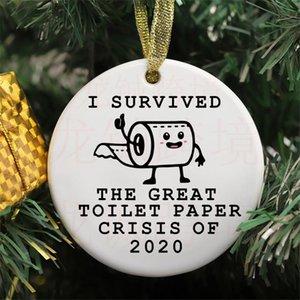 Cerâmica Personalizar Pictur enfeites Toilet Paper Decorações do Natal Decoração da árvore divertida engraçado Para Casa FWE2325