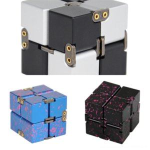 t6Hi3 NEW case cube Novelty Colorful Square Frame Infinite Cube Case forplus Protective Clear Decompression Rubik's cube acrylic