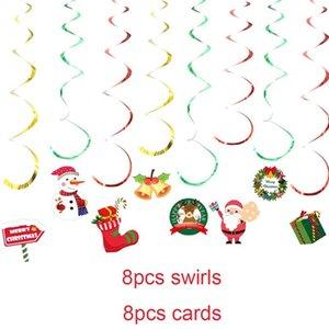 Yoriwoo Santa Claus Hanging Swirl Merry Christmas Decorations For Home Diy Craft Gift Xmas Tree Ornament Garland New Year 2021 jllGWC