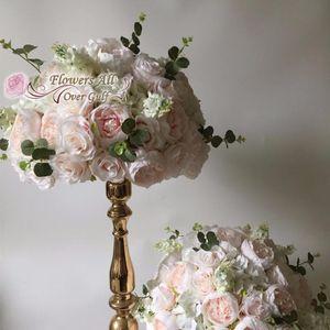 Dekoratif Çiçekler Çelenkler 6 Adet 40 cm Yapay Gül Topu Düğün Dekorasyon için Sahte Çiçek Yol Kurşun Masa Merkezi Evi Dekor