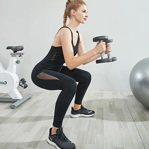 A6G17 printemps Yoga gymnastique de danse de séchage nouveaux sports d'été et un filet respirant la gymnastique de formation de danse de yoga costume pour la condition physique rapide des femmes