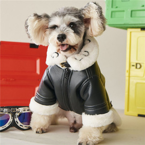 Brand Fur Dog Coat Pet Jackets Winter Thick Jacket Outdoor Dog Clothing Teddy Schnauzer Cat Pomeranian Bulldog Warm Clothes