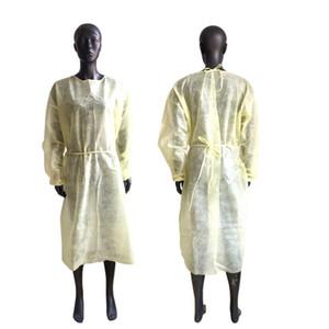 Non-Woven-Kleid 3 Farben Unisex Einweg-Regenmäntel Schutz-Küchen-Schürze Staubdichtes Schutzraincoats SEEverschiffen CCA12603